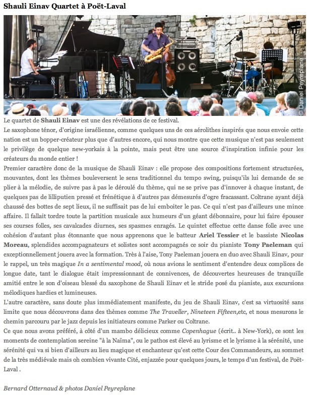 Poet Laval Jazz Festival review